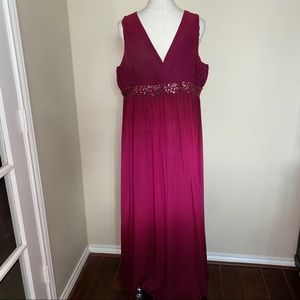 JS Boutique Woman Ombré Burgundy Formal dress